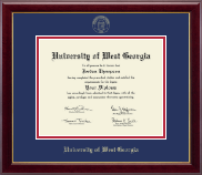 University of West Georgia Diploma Frame - Gold Embossed Diploma Frame in Gallery
