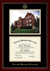 Nebraska Wesleyan University Diploma Frame - Campus Scene Edition Diploma Frame in Sutton