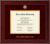Texas State University Diploma Frame - Presidential Masterpiece Diploma Frame in Jefferson