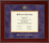 McKendree University Diploma Frame - Presidential Gold Engraved Diploma Frame in Jefferson