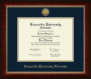 Concordia University in Nebraska Diploma Frame - Gold Engraved Medallion Diploma Frame in Murano