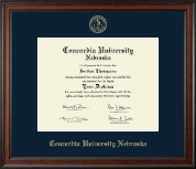 Concordia University in Nebraska Diploma Frame - Gold Embossed Diploma Frame in Studio