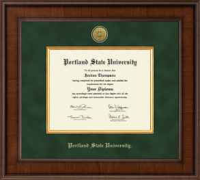 portland state university diploma frame presidential gold engraved diploma frame in madison