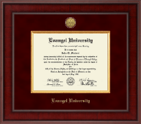Evangel University Diploma Frame - Presidential Gold Engraved Diploma Frame in Jefferson