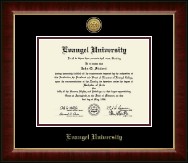 Evangel University Diploma Frame - Gold Engraved Medallion Diploma Frame in Murano