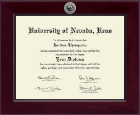 University of Nevada Reno Diploma Frame - Century Silver Engraved Diploma Frame in Cordova