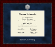 Chowan University Diploma Frame - Silver Engraved Medallion Diploma Frame in Sutton