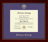 Defiance College Diploma Frame - Gold Embossed Diploma Frame in Sutton