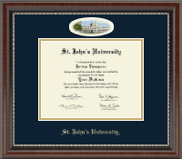 St. John's University, New York Diploma Frame - Campus Cameo Diploma Frame in Chateau