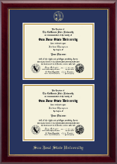 San Jose State University Diploma Frame - Double Diploma Frame in Gallery