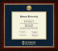 Judson University Diploma Frame - Gold Engraved Medallion Diploma Frame in Murano