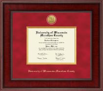 University of Wisconsin Wausau Diploma Frame - Presidential Gold Engraved Diploma Frame in Jefferson