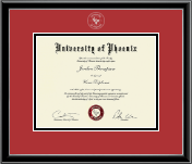 University of Phoenix Diploma Frame - Silver Embossed Diploma Frame in Onexa Silver
