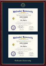 Gallaudet University Diploma Frame - Double Diploma Frame in Galleria
