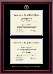 University of Mary Hardin Baylor Diploma Frame - Double Diploma Frame in Gallery
