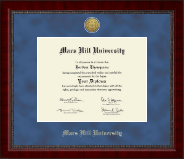 Mars Hill University Diploma Frame - Gold Engraved Medallion Diploma Frame in Sutton