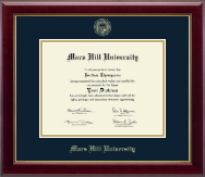 Mars Hill University Diploma Frame - Gold Embossed Diploma Frame in Gallery