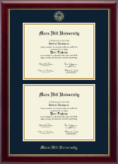Mars Hill University Diploma Frame - Double Diploma Frame in Gallery