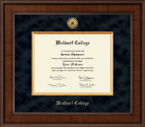 Waldorf College Diploma Frame - Presidential Gold Engraved Diploma Frame in Madison