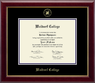 Waldorf College Diploma Frame - Gold Embossed Diploma Frame in Gallery