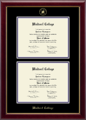 Waldorf College Diploma Frame - Double Diploma Frame in Gallery