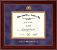 Tarleton State University Diploma Frame - Presidential Gold Engraved Diploma Frame in Jefferson
