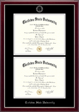Tarleton State University Diploma Frame - Double Diploma Frame in Gallery Silver