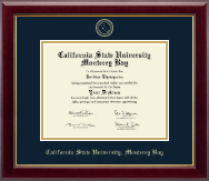 California State University Monterey Bay Diploma Frame - Gold Embossed Diploma Frame in Gallery