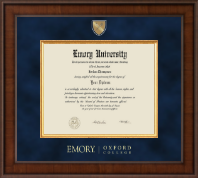 Emory Oxford College Diploma Frame - Presidential Masterpiece Diploma Frame in Madison
