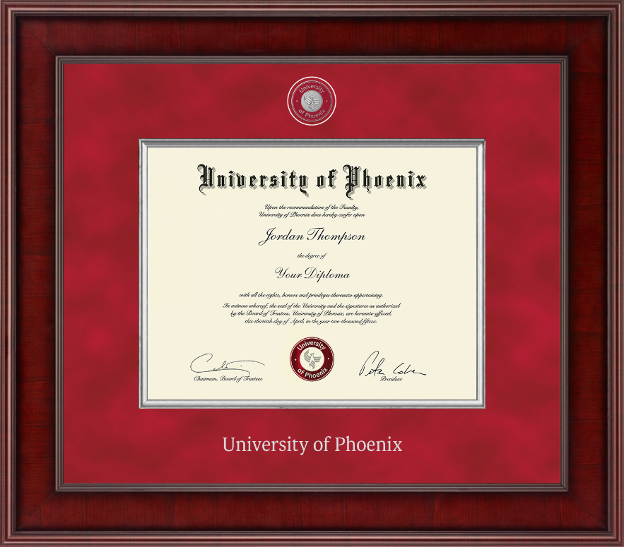 University Of Phoenix Presidential Masterpiece Diploma