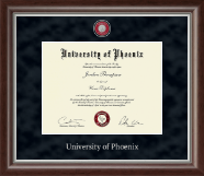University of Phoenix Diploma Frame - Regal Masterpiece Medallion Diploma Frame in Devonshire