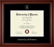 University of Phoenix Diploma Frame - Silver Embossed Diploma Frame in Cambridge