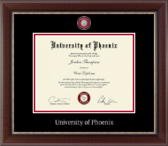 University of Phoenix Diploma Frame - Masterpiece Medallion Diploma Frame in Chateau