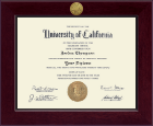 University of California Davis Diploma Frame - Century Gold Engraved Diploma Frame in Cordova