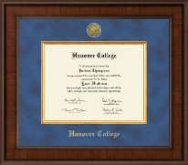 Hanover College Diploma Frame - Presidential Gold Engraved Diploma Frame in Madison