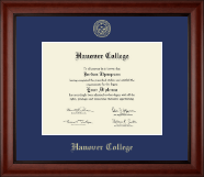Hanover College Diploma Frame - Gold Embossed Diploma Frame in Cambridge