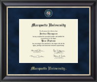 Marquette University Diploma Frame - Regal Edition Diploma Frame in Noir