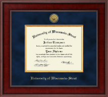 University of Wisconsin-Stout Diploma Frame - Presidential Gold Engraved Diploma Frame in Jefferson