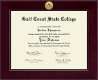 Gulf Coast State College Diploma Frame - Century Gold Engraved Diploma Frame in Cordova