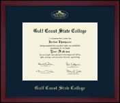 Gulf Coast State College Diploma Frame - Gold Embossed Achievement Edition Diploma Frame in Academy