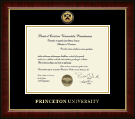 Princeton University Diploma Frame - Gold Engraved Medallion Diploma Frame in Murano