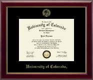 University of Colorado Boulder Diploma Frame - Gold Embossed Diploma Frame in Gallery