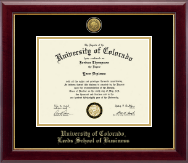 University of Colorado Diploma Frame - Gold Engraved Medallion Diploma Frame in Gallery