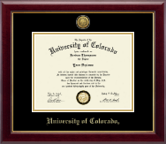 University of Colorado Boulder Diploma Frame - Gold Engraved Medallion Diploma Frame in Gallery
