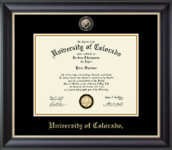 University of Colorado Boulder Diploma Frame - Masterpiece Medallion Diploma Frame in Noir