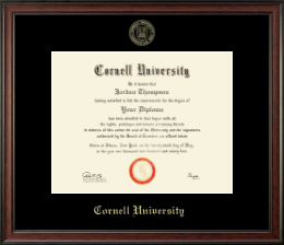 Cornell University Diploma Frame - Gold Embossed Diploma Frame in Studio