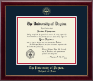 University of Dayton Diploma Frame - Gold Embossed Diploma Frame in Gallery