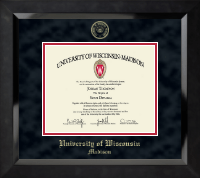 University of Wisconsin Madison Diploma Frame - Gold Embossed Diploma Frame in Eclipse