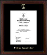 National Honor Society Certificate Frame - Gold Embossed Certificate Frame in Studio Gold