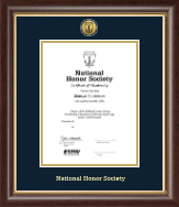 National Honor Society Certificate Frame - Gold Engraved Medallion Certificate Frame in Hampshire